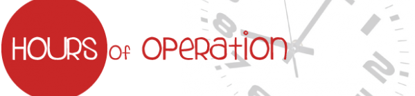 Banner Image for Hours of Operation