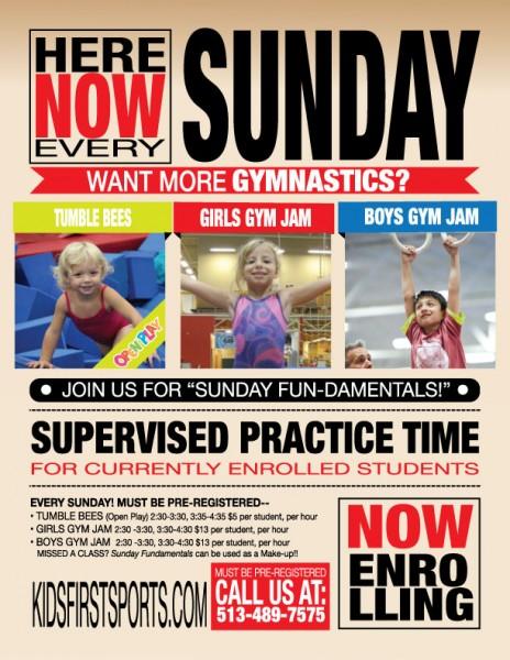 Sunday Gymnastics Programs