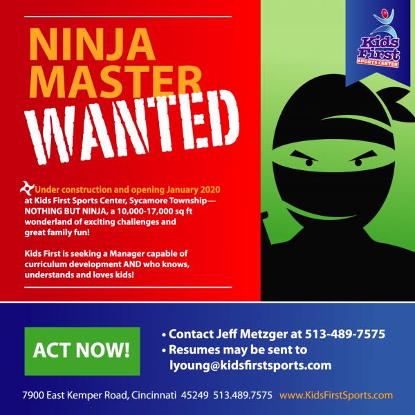 Ninja Master Wanted