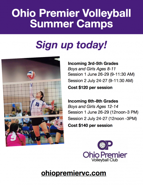 Ohio Premier Volleyball Summer Camps