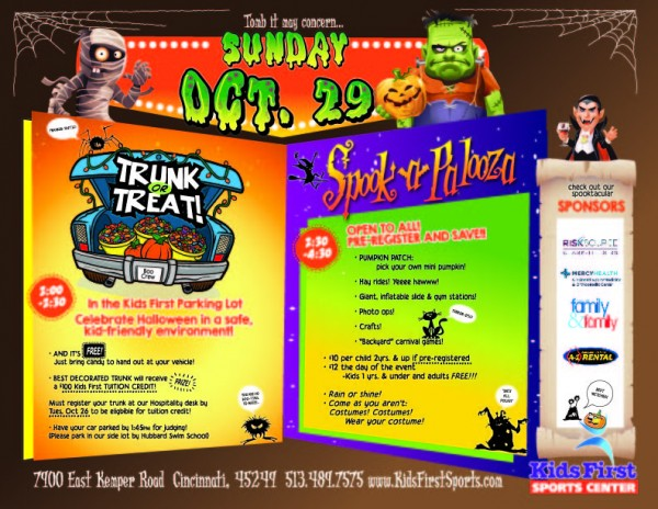 Trunk or Treat and Spook-a-Palooza